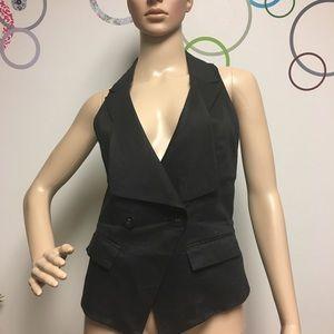 BEBE black vest XS